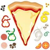 Guarnizioni della pizza Fotografia Stock