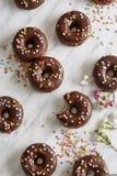 Guarnizioni di gomma piuma del cioccolato Fotografie Stock