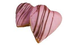 Guarnizioni di gomma piuma di figura del cuore di giorno del biglietto di S. Valentino Fotografie Stock