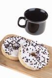 Guarnizioni di gomma piuma squisite con caffè Immagine Stock Libera da Diritti