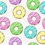 Guarnizioni di gomma piuma su fondo astratto modello senza cuciture con i punti e le guarnizioni di gomma piuma fotografia stock libera da diritti