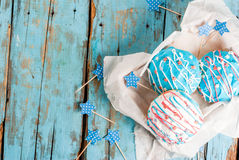 Guarnizioni di gomma piuma variopinte per il quarto luglio Fotografia Stock