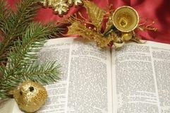 Guarnizioni di natale della bibbia Fotografie Stock