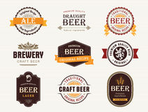 Guarnizioni e bolli della birra Immagini Stock Libere da Diritti