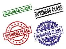 Guarnizioni strutturate graffiate del bollo del BUSINESS CLASS Illustrazione di Stock