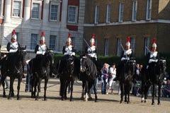 Guars en caballo fotos de archivo