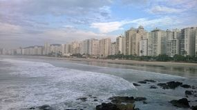Guarujá - Pitangueiras. A place of peace, brings the renewal of every dawn Stock Photos