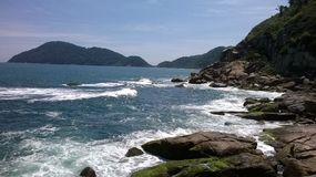 Guarujá - Secret Point. One of the secret places of the Atlantic Pearl Royalty Free Stock Images