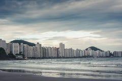 Guaruja, Asturias och Pitangueiras strand arkivfoton