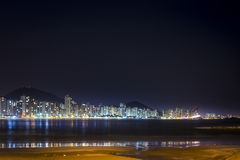 Free Guaruja, Pitangueiras Beach At Night. Royalty Free Stock Photos - 95533088