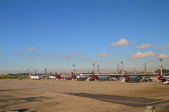 Guarulhos flygplats - Sao Paulo - Brasilien royaltyfri bild