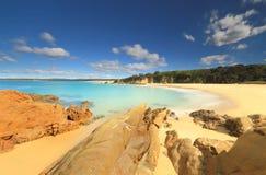 Águas claros do aqua da praia de Jagger Imagens de Stock