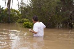 Águas da inundação Imagens de Stock