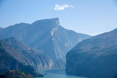Águas do rio do Rio Yangtzé Three Gorges Qutangxia Fengjie Imagens de Stock