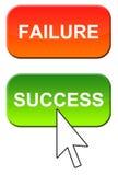 Guasto e successo illustrazione di stock