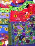 Guatamala market. Colourful cloths at a guatamala market Royalty Free Stock Image