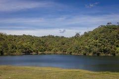 Guatapé水坝风景在安蒂奥基亚省-哥伦比亚 免版税图库摄影