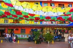 Guatape在麦德林,安蒂奥基亚省,哥伦比亚 免版税库存照片