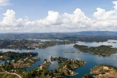 Guatape湖,哥伦比亚 库存图片