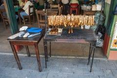 Guatape街道食物 图库摄影