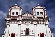 GUATAPE, ANTIOQUIA, COLOMBIA, AUGUST 08, 2018: The Church of Our Lady of Carmen royalty free stock image