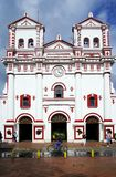 GUATAPE, ANTIOQUIA, COLOMBIA, AUGUST 08, 2018: The Church of Our Lady of Carmen royalty free stock images