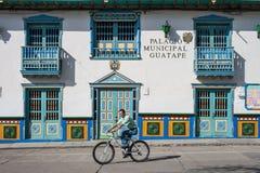 Guatape City Hall Stock Photo