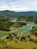 Guatape Colombia. Islands lake south America landscape nature color Stock Images