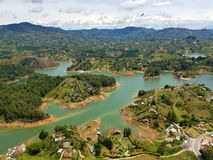 Guatape Colombia. Islands lake south America landscape nature color Royalty Free Stock Photos