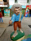Guatape Colombia. Town village statue  colombian Stock Images