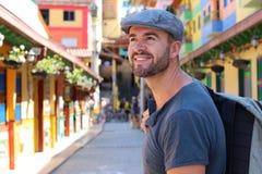 Guatape de visite de touristes beau, Colombie photos libres de droits