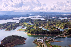 Guatape Lake, Colombia Royaltyfri Fotografi