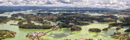 Guatape reservoir lake. In Colombia Stock Image