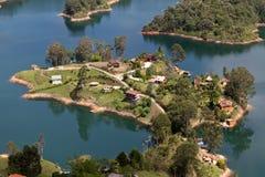 Guatape sjö, Colombia arkivbild