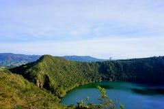 Guatavita, Colombia lagoon or lake el dorado legend royalty free stock photos