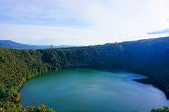 Guatavita, Colombia lagoon or lake el dorado legend stock photography