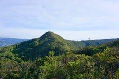 Guatavita legend för dorado för Colombia lagun- eller sjöel arkivbilder