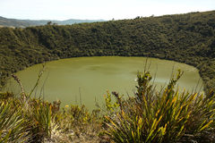 Guatavita volcanic lagoon, Cundinamarca, Colombia Royalty Free Stock Photography
