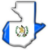 Guatemala button flag map shape Royalty Free Stock Photos