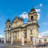 View at the Metropolitan Cathedral of Guatemala City - Guatemala stock photo