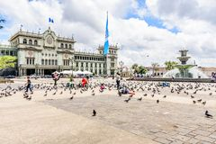 National Palace of Culture, Guatemala City. Guatemala City, Guatemala - September 5, 2018: Presidential palace National Palace of Culture Palacio Nacional de la royalty free stock photos