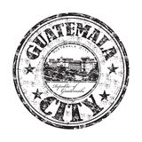 Guatemala City rubber stamp. Black grunge rubber stamp with the name of Guatemala City, the capital of the Republic of Guatemala Royalty Free Stock Photo