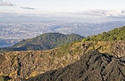 Guatemala City seen from Pacaya Volcano stock images