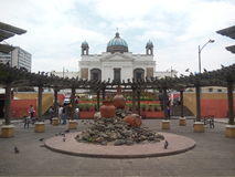Guatemala city. Visit centran park Royalty Free Stock Photos