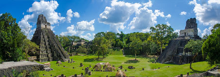 Guatemala de Tikal do panorama Imagens de Stock