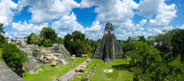 Guatemala de Tikal do panorama Fotos de Stock Royalty Free