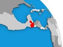 Guatemala en el globo Foto de archivo