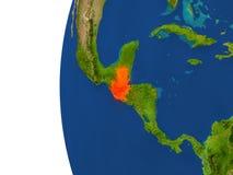 Guatemala en el globo Fotos de archivo