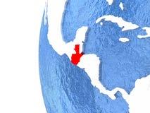 Guatemala en el globo Imágenes de archivo libres de regalías