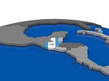 Guatemala en el globo 3D Foto de archivo libre de regalías